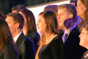 "The Orem Institute Choir sang a stirring ""Climb Every Mountain,"" which event organizers learned was one of Elder Oaks' favorite songs."