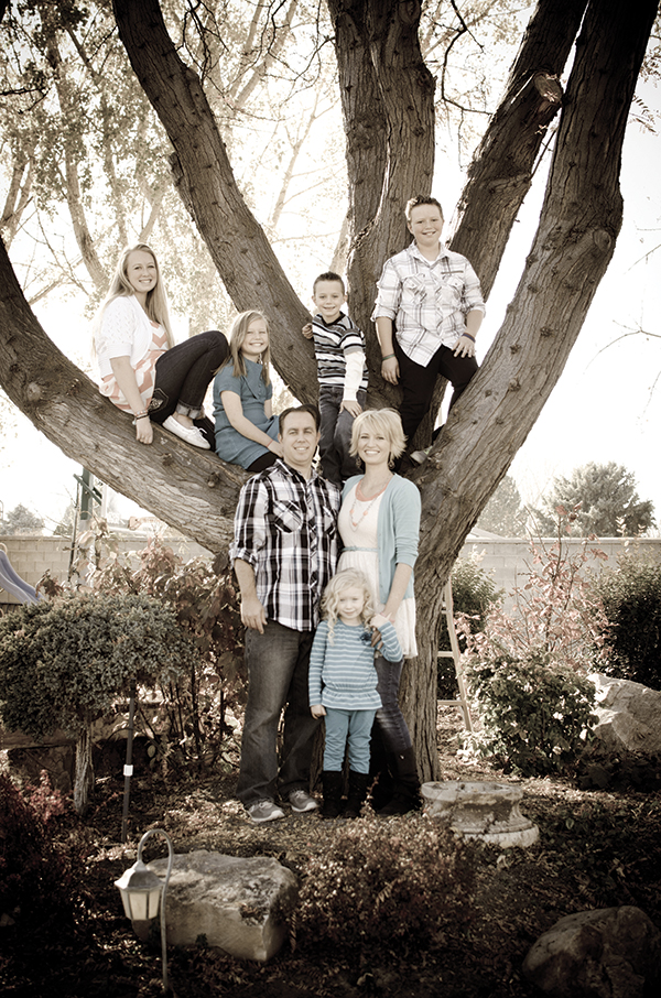 Spanish Fork's Jared and Matia Young have five children ranging in age from 15 to 3. They purchased an existing home and enjoy the much-needed space it has provided for their growing family.