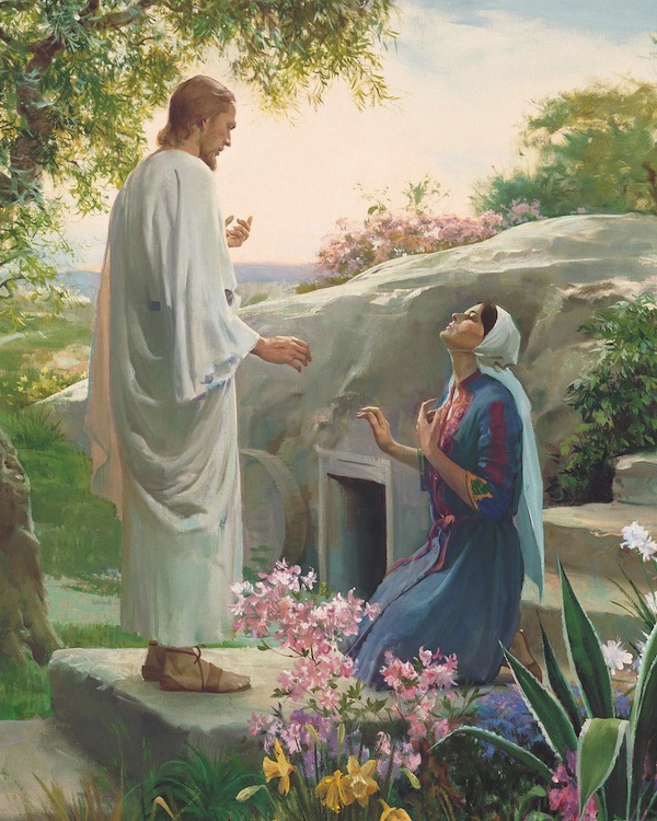 Mary and the Resurrected Lord. (Photo courtesy LDS Church)