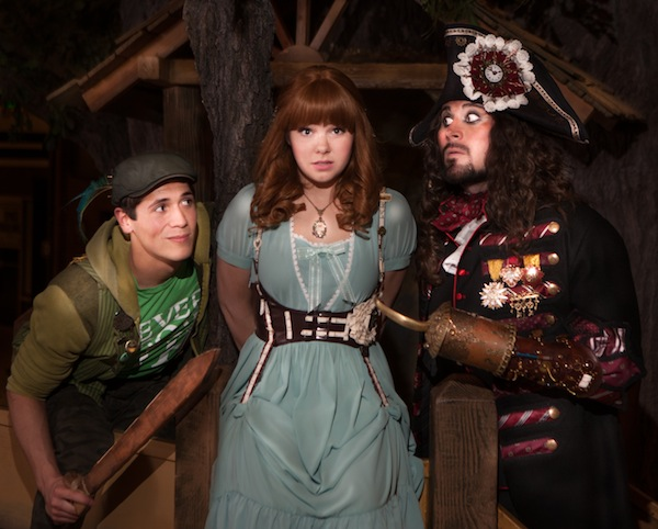 "Peter Pan (Josh Valdez), Wendy Darling (Marissa Smith) and Captain Hook Ben Henderson (Captain Hook) are part of the Hale Center Theaters production ""Peter Pan."" The show starts on April 24 and runs through June 14. (Photo courtesy Hale Center Theater)"