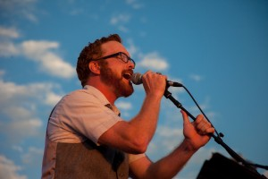 Paul Jacobsen sings a Tom Petty tune at the July 2012 Rooftop Concert. (Photo courtesy of Justin Hackworth)
