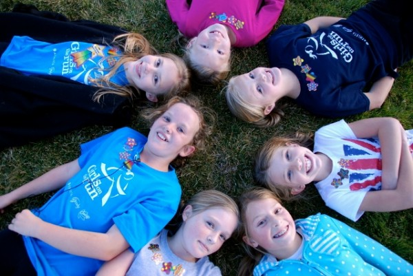 Girls from Grovecrest Elementary in Pleasant Grove formed the first Utah County Girls on the Run team in 2012. (Photo courtesy Girls on the Run Utah)