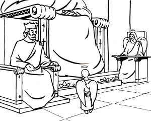 A coloring sheet available at heavenisforreal.net shows what Colton Burpee says God's thrown looks like.