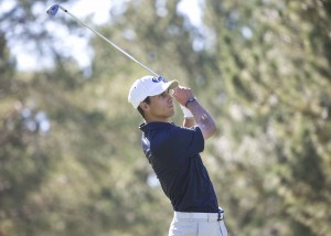 BYU sophomore Joe Parkinson is among the leaders in this week's WCC Golf Championships in Washington. (Photo by Mark A. Philbrick, BYU Photo)