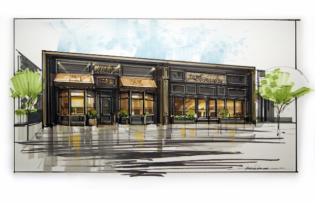 This rendering shows the retail location Taste, which will sell fine foods and Coleman & Davis Artisan Chocolates. Taste is set to open in June on University Avenue in Provo.