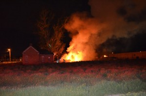 Fire investigators believe the same people or people set three fires early Tuesday morning in west Provo. (Photo courtesy Provo City)