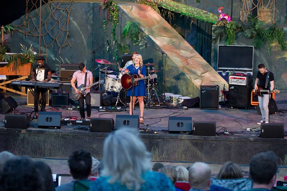 Singer Ashley Hess belts out a tune at the Scera Shell in summer 2013. She'll be touring Europe with a group of musicians from Seventy3 Creative in July 2014 as part of their Rise Above and Influence tour. (Photo courtesy of Ashley Hess)