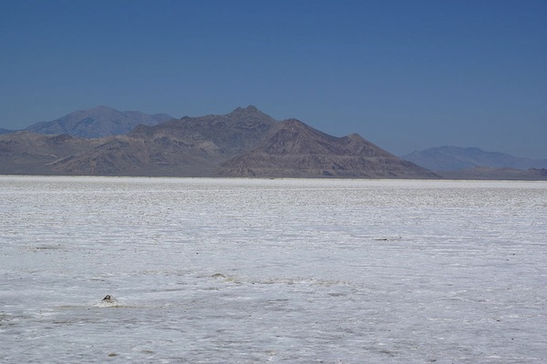 The Bonneville Salt Flats were used in (Photo courtesy Wikimedia Commons)
