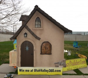 Fancy Built makes playhouses, chicken coops, sheds and other outdoor structures. Fancy Built and Utahvalley360.com joined together to give away this playhouse at the end of the summer. (Photo by Rebecca Lane)