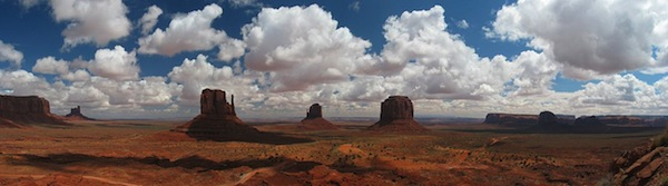 Monument Valley is the location for the (Photo courtesy Wikimedia Commons)