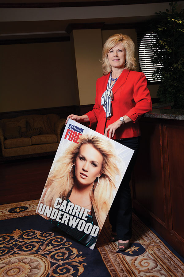 """Nancy Mann is on fire about this  year's Stadium of Fire headliner, Carrie Underwood. """"Each year after the event we do a survey and she got rave reviews after her last performance,"""" Nancy says."""