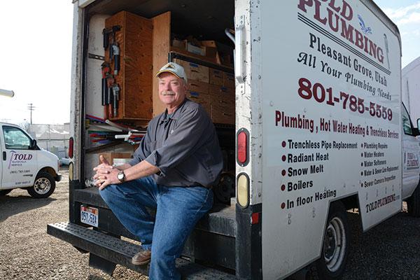 Kelly Barneyis a plumber for Told Plumbing, Utah Valley's favorite plumbing company. (Photo by Leah Aldous)