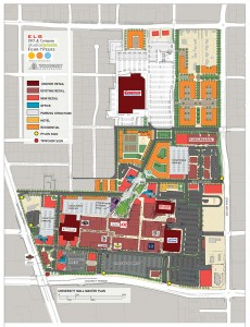 Map shows the concept plan for a huge redevelopment project underway at University Mall on State Street and University Parkway in Orem. (Photo courtesy University Mall)