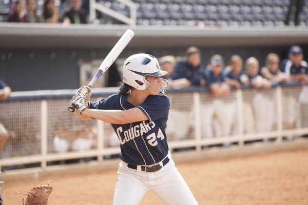 Former walk-on Jenna Goar earned a softball scholarship in time for her senior season. (Photo by Jonathan Hardy/BYU Photo)