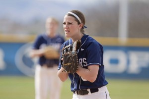 Janna Goar just completed a four-year run with BYU softball that began as a walk-on. (Photo by Jonathan Hardy, BYU Photo)