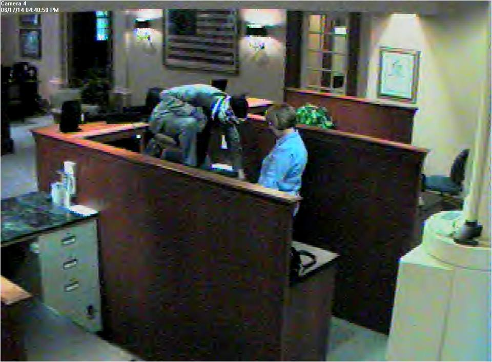Photos show three masked men robbing the AM Bank, 3670 N. University Ave. in Provo. (Photos courtesy Provo police)