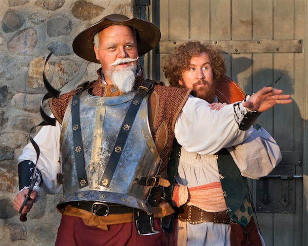 "Dave Burton and Andy Hansen star in the Hale Center Theater in Orem's production of ""Man of La Mancha."" (Photo by Pete Widtfeldt)"
