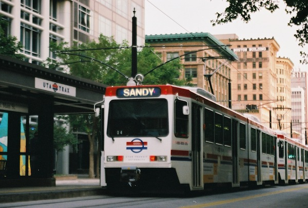 Transit planners want Lehi, Saratoga Springs and Eagle Mountain to start making room for light rail, like TRAX. (Photo courtesy UTA)
