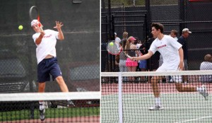 Mountain View's state tennis title run was keyed by Jon Dollahite and Manuel Ortiz. (Photos by Kurt Johnson)