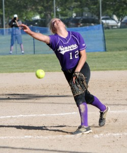 Sophomore Sydney White pitched Lehi to the state softball title. (Photo by Kurt Johnson)