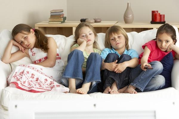Bored TV kids