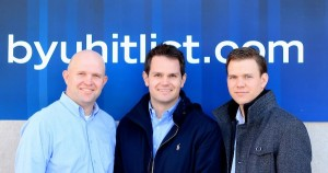 Collegiate Advertising created the BYUHITLIST in 2012. They are now working with UtahValley30.com on the UVHITLIST. From left, Joseph Meservy, Andrew Stewart and Devin Killpack. (Photo courtesy Collegiate Advertising)