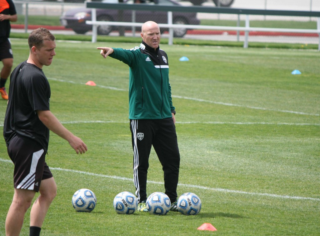 UVU men's soccer head coach Greg Maas. (Photo by Kurt Johnson)