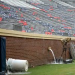 Scott Stadium was temporarily closed during the 2013 BYU/Virginia game because of lightning.
