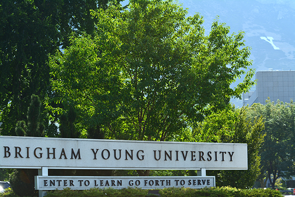 byu campus sign