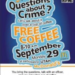 Grab a drink, ask Orem police a question