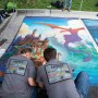 Locals and out-of-state visitors come to see street art at Chalk the Block at The Shops at Riverwoods. The event, which benefits Clear Horizons Academy, will welcome more than 200 artists this year to fill the shopping center with chalk art.