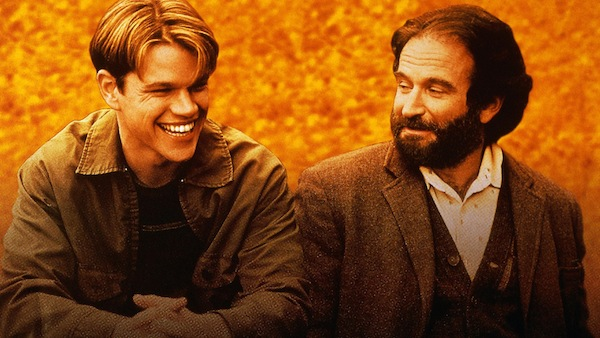 """Good Will Hunting"" features Matt Damon and Robin Williams."