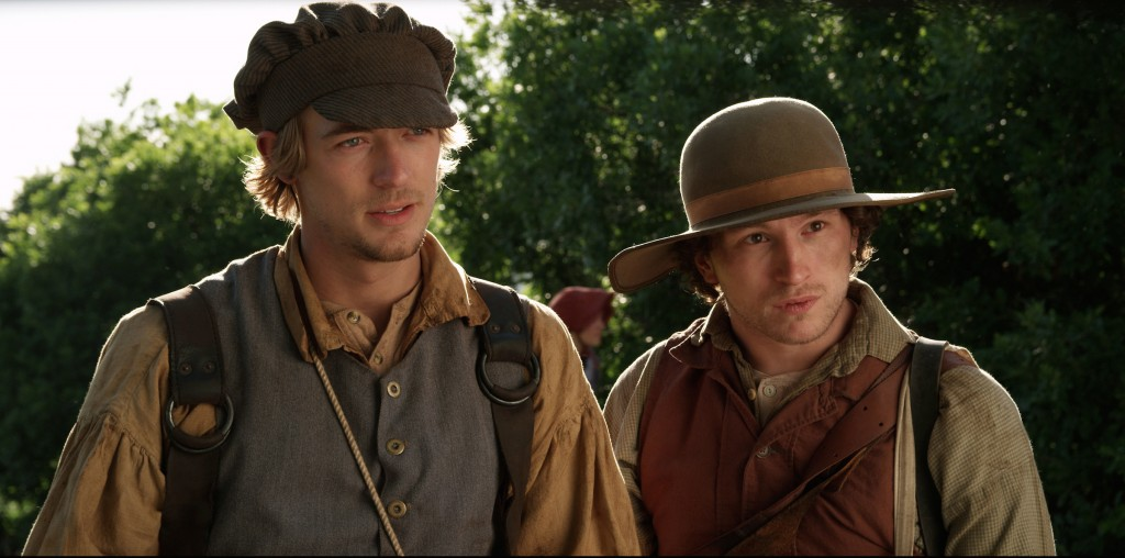 """Mason D. Davis, left, and Ben Isaacs play two-thirds of the trio who go in search of the 16 Jaredite stones in the film """"16 Stones,"""" which will be in theaters Oct. 1. (Photo Courtesy of Candlelight Media)"""