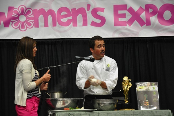 A cooking demonstration takes place during a past Utah Women's Expo. (Photo courtesy Utah Women's Show)
