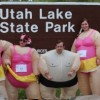 Participants in the Obstacles of Obesity Fun Run will wear inflatable suits like these pictured.