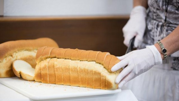 Fresh baked bread is one of the hundreds of items available to the poor and needy at the Bishop's Storehouse located at Welfare Square. (Photo courtesy Mormon Newsroom.)