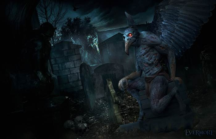 The Nightshade Cemetery is one of the haunted parts of Evermore's Pumpkin Fest. (Image courtesy Evermore Park)
