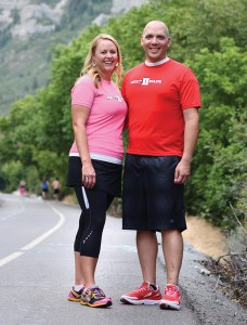 Blu and Marissa Robinson bond through the joys of parenthood and running their non-profit organization, Addict II Athlete. Blu overcame substance abuse and now helps others do the same. The couple enjoys running together on the Provo River Parkway trail.