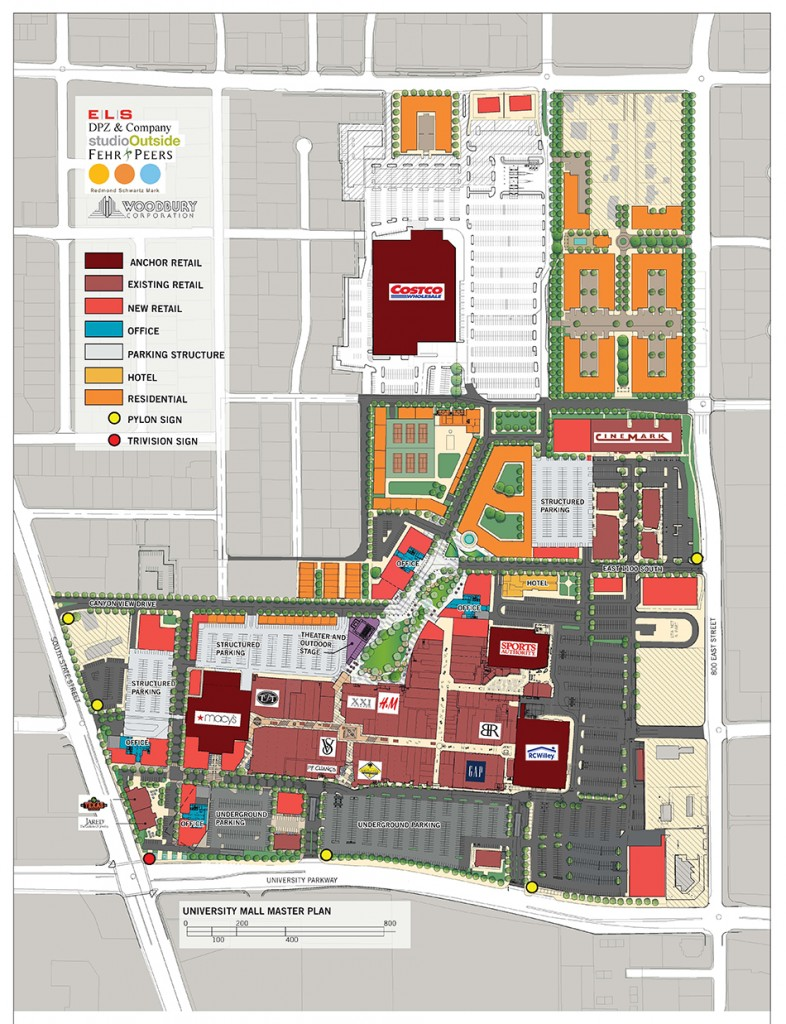 University Mall has construction plans for development for years to come.
