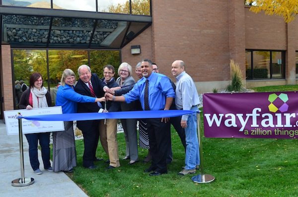 orem 39 s growth continues with wayfair ribbon cutting and