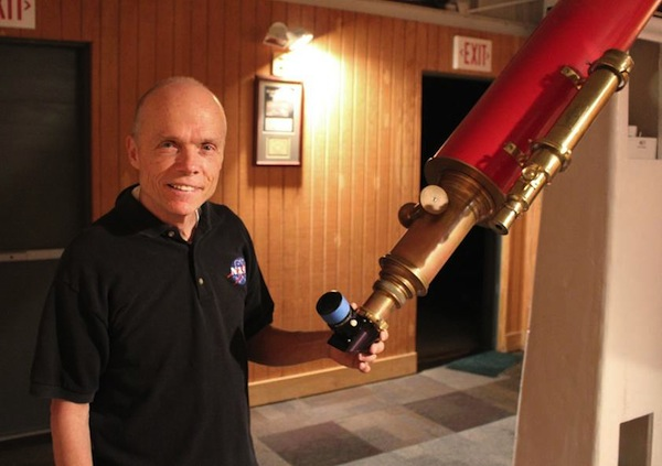NASA Solar System Ambassador Patrick Wiggins is presenting about his out-of-this-world experience to the community Monday night.  (Photo by Bill Dunford)