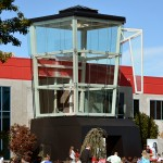 Remodeled Blendtec facility features 3-story tall blender entrance