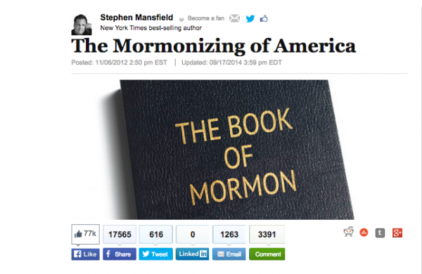Members of The Church of Jesus Christ of Latter-day Saints are making a positive difference in the world, and major news outlets are noticing. (Screenshot from HuffingtonPost.com.)