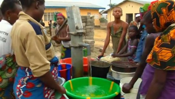 The Church's clean water projects have benefited nearly four million Africans since 2003 in such places as Sierra Leone, the central African city of Luputa and the Congolese villages of Tshiabobo, Mafumba, Kasha and Ibola. (Photo courtesy Mormon Newsroom.)