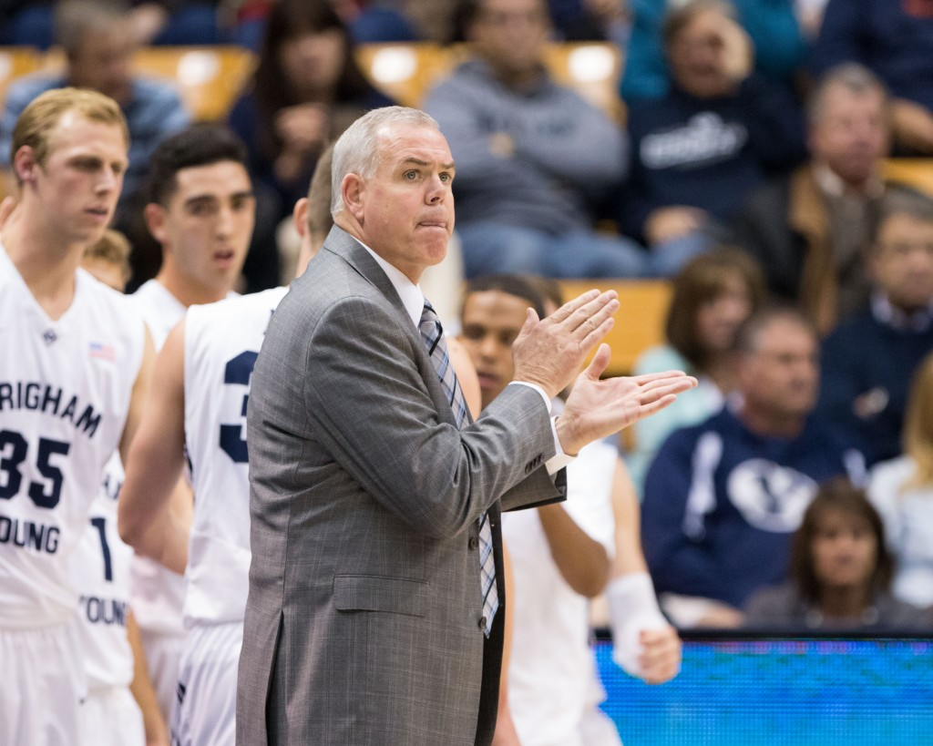 BYU head men's basketball coach Dave Rose signed a new 5-year contract with BYU. (Photo by Elliott Miller/BYU Universe)