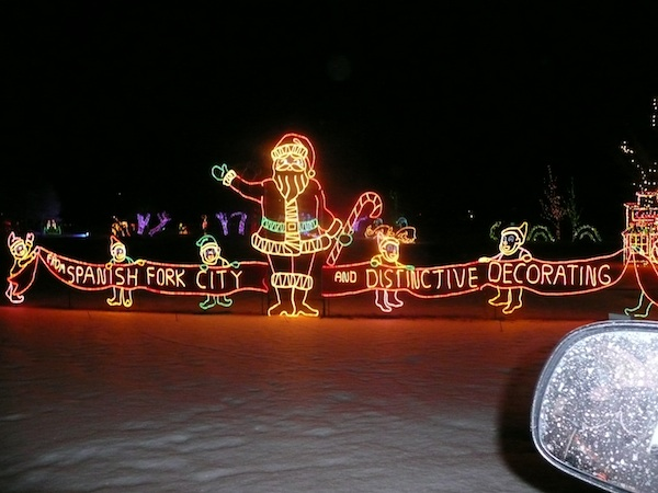 The Spanish Fork Festival of Lights begins Thanksgiving Day and continues through New Years Day. (Photo courtesy Festival of Lights)
