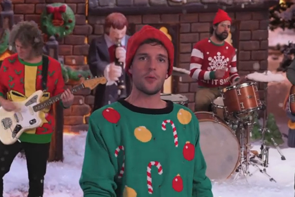 "The Killers lead singer, Brandon Flowers, has just released his newest Christmas song, ""Joel, the Lump of Coal."""