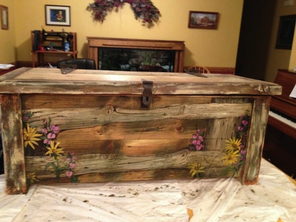 Lyle Hadlock built this hope chest and came up for the idea behind the Hope for Tomorrow concert. (Photo courtesy Food & Care Coalition)