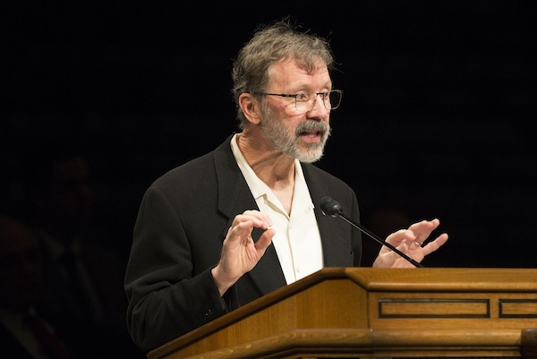 "Ed Catmull, co-founder of Pixar Animation Studios and President of Walt Disney and Pixar Animation Studios, told BYU students that all Disney and Pixar films ""suck"" in their first draft. (Photo courtesy BYU Photo)"