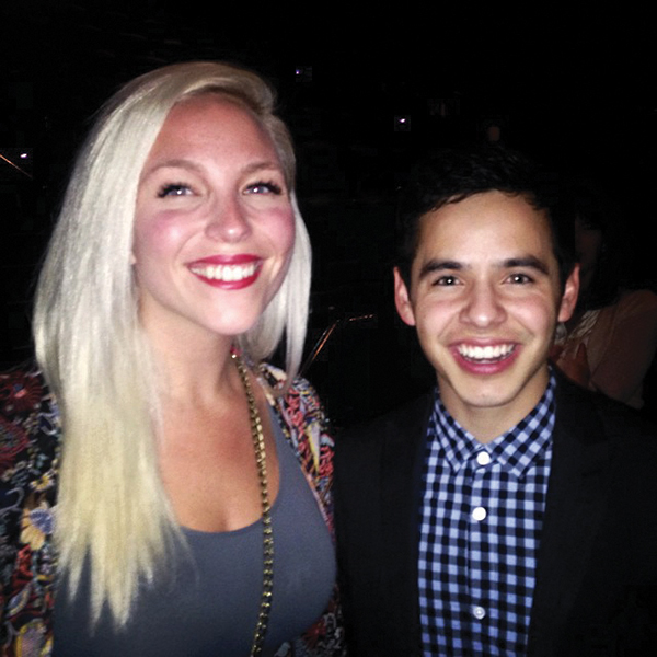 "Stephanie Mabey said she was excited to hang out with David Archuleta at the premiere of ""Meet the Mormons"" — ""so we could high five each other,"" she says."